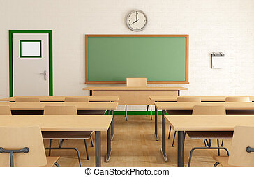 class without students - classroom without student with...