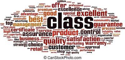 Class word cloud concept