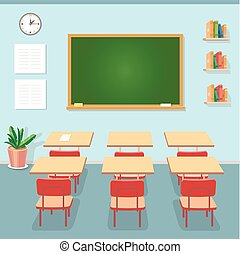 classe, école, classe entraînement, education, cours, tableau, desks., ou