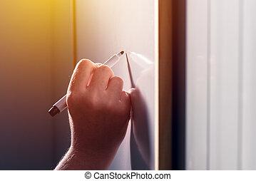 classe, école, whiteboard, prof, écriture