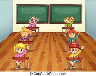 classe, étudiant
