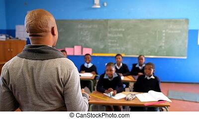 classe, étudiants, mâle, enseignement, 4k, prof