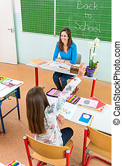 classe, étudiants, prof