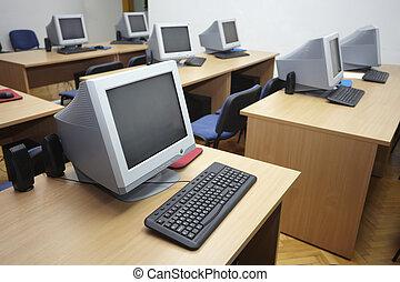 classe, 1, informatique