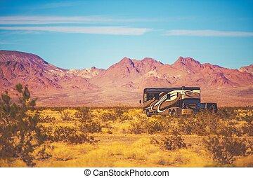 classe, a, motorhome, camping car, voyage