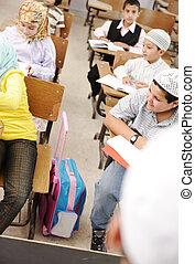 classe, activités, école, apprentissage, education, enfants, heureux