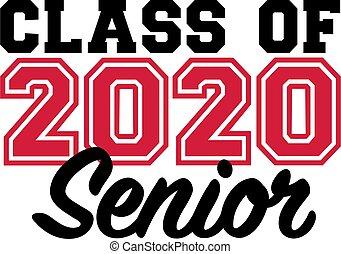 classe, anziano, 2020
