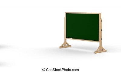 classe, blanc, arrière-plan., isolé, 3d, render
