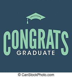 classe, congratulazioni, 2017, tipografia, laureato