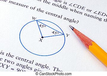 classe, crayon, école, quelques-uns, math