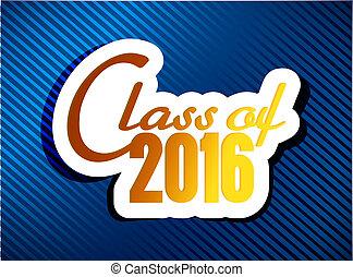 classe, de, 2016., graduação, ilustração, desenho