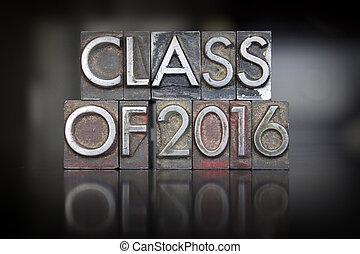 classe, de, 2016, letterpress