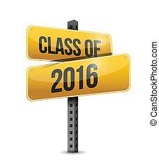 classe, de, 2016, sinal estrada, ilustração, desenho