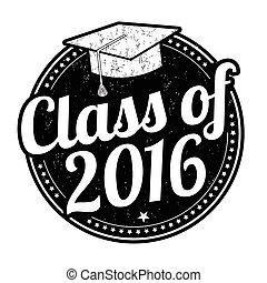 classe, di, 2016, francobollo