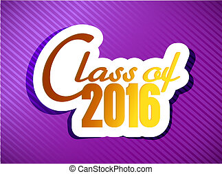 classe, di, 2016., graduazione, illustrazione, disegno