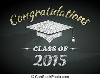 classe, di, graduazione, manifesto