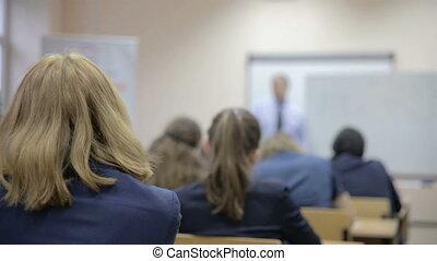 classe, enseigne, prof