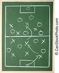 classe, entraîneur football, tactique, tableau, sport équipe
