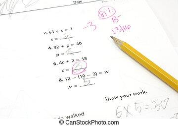 classe, essai, 5ème, math