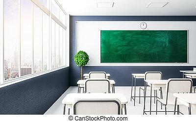 classe, intérieur, propre