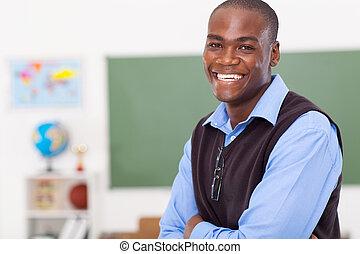 classe, mâle, primaire, prof