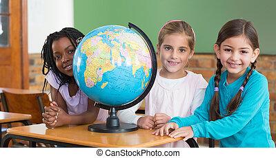classe, mignon, élèves, séance