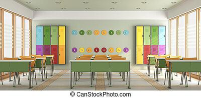 classe, moderne, coloré