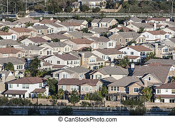 classe moyenne, californie, suburbia
