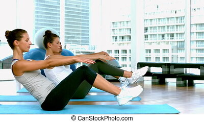 classe, nattes yoga, exercice, fitness