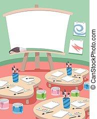 classe, peinture, classe
