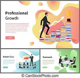 classe, professionnel, croissance, collaboration, maître