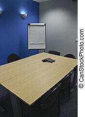 classe, salle, moderne, chiquenaude, réunion, ou, vide, conseils