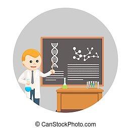 classe, scientifique, fond, enseignement, cercle, homme