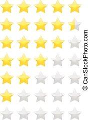 classement, étoiles