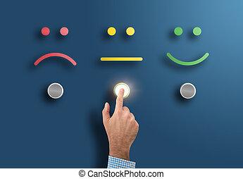 classement, concept, service, bouton, main, neutre, toucher, enquête, interface, figure