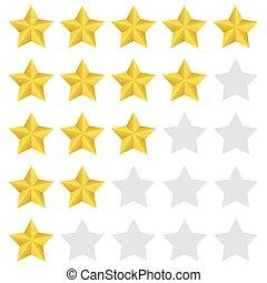 classement, ensemble, étoile
