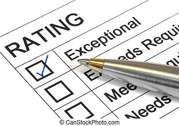 classement, exceptionnel