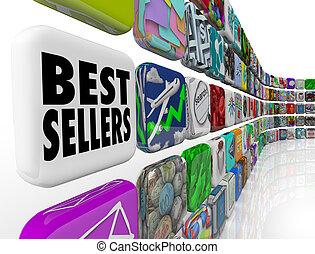 classer, mur, app, liste, vendeurs, applications, mieux