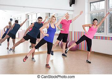 classes, aeróbica, condicão física