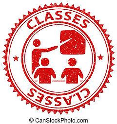 classes, timbre, indique, leçons, cla