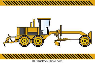 classeur, équipement, machinerie construction, moteur