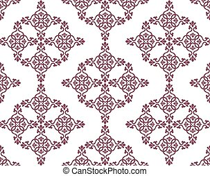 Classic abstract geometric floral pattern