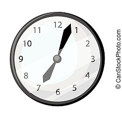 Classic alarm clock isolated on white. vector illustration