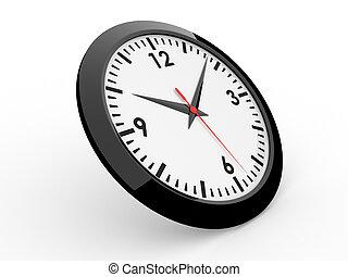 Classic alarm clock (3D rendered alarm clock)