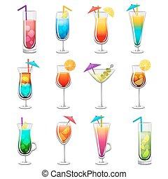 Classic Alcohol Cocktails Set