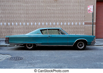 Classic American Car from the 1960s on New York city street
