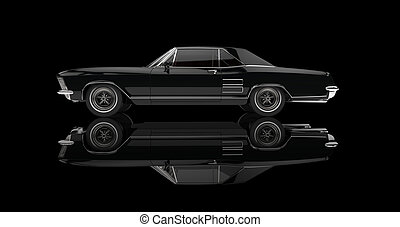 Black Cool Cars Perspective Shot Drawing Search Clip Art - Black cool cars