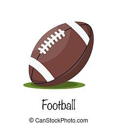 Classic american football game ball. vector illustration