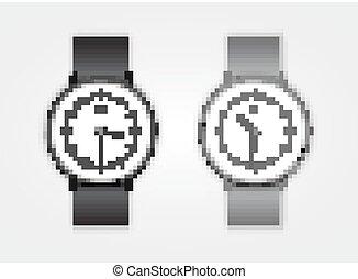 Classic Analog Men's Wrist Watch detailed vector