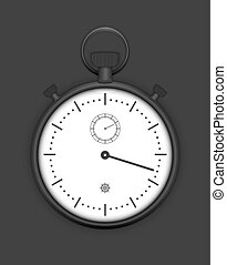 Classic Analog Stopwatch detailed vector